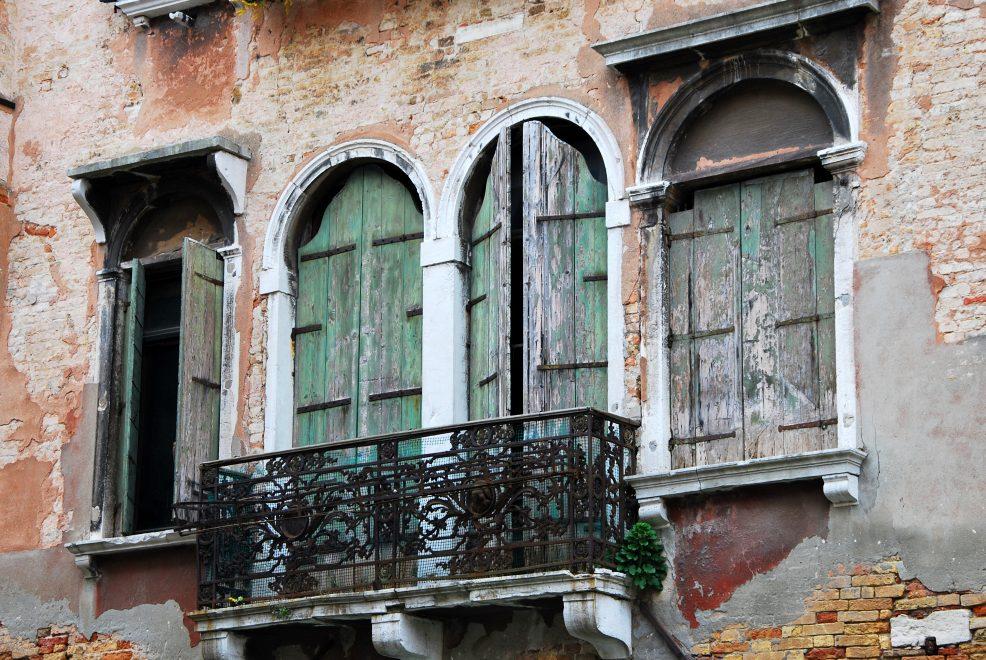 Venetian balcony Italy