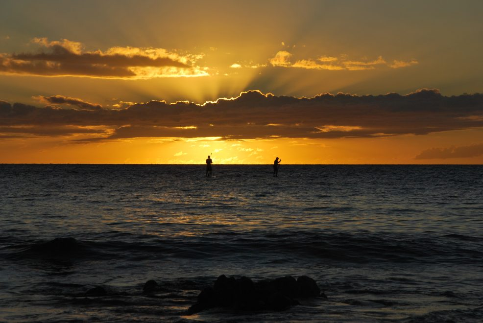 Maui sunset surf